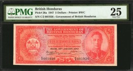 BRITISH HONDURAS. Government of British Honduras. 5 Dollars, 1947. P-26a. PMG Very Fine 25.