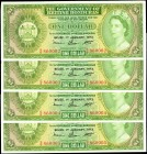 BRITISH HONDURAS. Government of British Honduras. 1 Dollar, 1973. P-28c. Consecutive. Uncirculated.