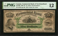 CANADA. Commercial Bank of Newfoundland. 5 Dollars, 1888. CH #185-18-06. PMG Fine 12.