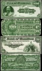 CANADA. Bank of Hamilton. 5 to 100 Dollars, 1904. CH #345-18-02p to 345-18-10p. Front & Back Proofs. About Uncirculated.