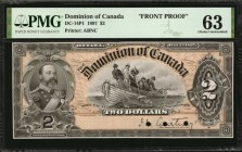 CANADA. Dominion of Canada. 2 Dollars, 1897. DC-14P1. Front Proof. PMG Choice Uncirculated 63.