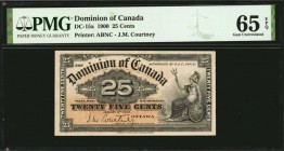 CANADA. Dominion of Canada. 25 Cent, 1900. DC-15a. PMG Gem Uncirculated 65 EPQ.