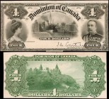 CANADA. Dominion of Canada. 4 Dollars, 1900. DC-16p. Front & Back Proofs. About Uncirculated.