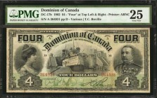 CANADA. Dominion of Canada. 4 Dollars, 1902. DC-17b. PMG Very Fine 25.