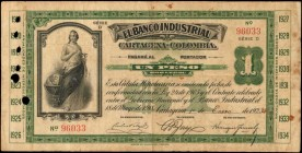 COLOMBIA. Banco Industrial Cartagena. 1 Peso, 1923. P-S551. Very Fine.