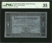 DANISH WEST INDIES. State Treasury. 50 Dalere, 1849. P-5. PMG Choice Very Fine 35.