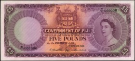 FIJI. Government of Fiji. 5 Pounds, 1960. P-54cs. Specimen. Uncirculated.