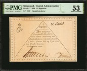 GREENLAND. Danish Administration. 1/4 Rigsdaler, 1804. P-A7. PMG About Uncirculated 53.