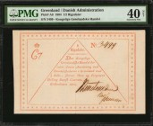 GREENLAND. Danish Administration. 1/2 Rigsdaler, 1804. P-A8. PMG Extremely Fine 40 Net.