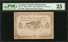 GREENLAND. Danish Administration. 50 Ore, 1888. P-1c. PMG Very Fine 25.