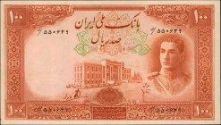IRAN. Bank Melli. 100 Rials, ND (1944). P-43. Very Fine.