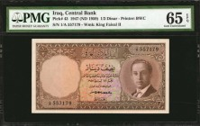 IRAQ. Central Bank. 1/2 Dinar, 1947 (ND 1959). P-43. PMG Gem Uncirculated 65 EPQ.