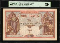 ALGERIA. Banque de L'Algerie. 1000 Francs, 1926. P-83a. PMG Very Fine 30.