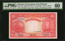 BAHAMAS. Bahamas Government. 10 Shillings, 1936. P-10d. PMG Extremely Fine 40.