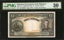 BAHAMAS. Bahamas Government. 1 Pound, 1936 (ND 1947). P-11e. PMG Very Fine 30.