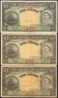 BAHAMAS. Bahamas Government. 1 Pound, 1954. P-15b. Fine.