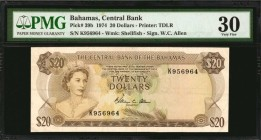BAHAMAS. Central Bank. 20 Dollars, 1974. P-39b. PMG Very Fine 30.