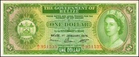 BELIZE. Government of Belize. 1 Dollar, 1976. P-33c. Uncirculated.