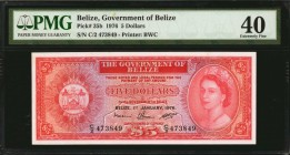 BELIZE. Government of Belize. 5 Dollars, 1976. P-35b. PMG Extremely Fine 40.
