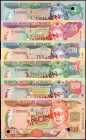 BERMUDA. Bermuda Monetary Authority. 2 to 100 Dollars, 2000. P-50s to 55s. Specimens. About Uncirculated.
