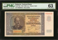 BULGARIA. National Bank of Bulgaria. 500 Leva, 1942. P-60a. PMG Choice Uncirculated 63.