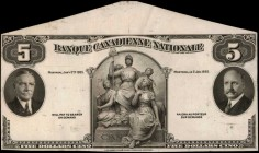 CANADA. Banque Canadienne Nationale. 5 Dollars, 1935. CH #85-14-02p. Proof. About Uncirculated.
