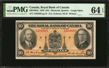 CANADA. Bank of Canada. 10 Dollars, 1935. CH #630-18-04a. PMG Choice Uncirculated 64 EPQ.