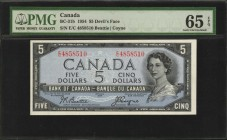CANADA. Bank of Canada. 5 Dollars, 1954. BC-31b. PMG Gem Uncirculated 65 EPQ.