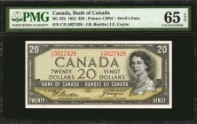 CANADA. Bank of Canada. 20 Dollars, 1954. BC-33b. PMG Gem Uncirculated 65 EPQ.