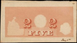 CANADA. ND. P-Unlisted. Printing Test Note. About Uncirculated.
