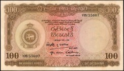 CEYLON. Central Bank of Ceylon. 100 Rupees, 1956. P-61. Extremely Fine.
