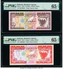 Bahrain Monetary Agency 1/2; 1 Dinar 1973 Pick 7; 8 Two Examples PMG Gem Uncirculated 65 EPQ (2).   HID09801242017  © 2020 Heritage Auctions | All Rig...