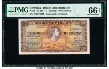 Bermuda Bermuda Government 5 Shillings 1.5.1957 Pick 18b PMG Gem Uncirculated 66 EPQ.   HID09801242017  © 2020 Heritage Auctions | All Rights Reserve