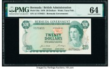Bermuda Bermuda Government 20 Dollars 6.2.1970 Pick 26a PMG Choice Uncirculated 64.   HID09801242017  © 2020 Heritage Auctions | All Rights Reserve