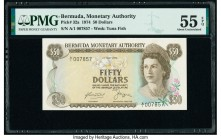Bermuda Monetary Authority 50 Dollars 1.5.1974 Pick 32a PMG About Uncirculated 55 EPQ.   HID09801242017  © 2020 Heritage Auctions | All Rights Reserve...