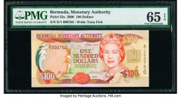 Bermuda Monetary Authority 100 Dollars 2000 Pick 55a PMG Gem Uncirculated 65 EPQ.   HID09801242017  © 2020 Heritage Auctions | All Rights Reserve