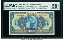 China Bank of Communications, Shanghai 1 Yuan 1927 Pick 145Ac S/M#C126-193 PMG Choice About Unc 58 EPQ.   HID09801242017  © 2020 Heritage Auctions | A...