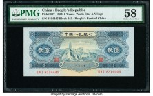 China People's Bank of China 2 Yuan 1953 Pick 867 S/M#C283-11 PMG Choice About Unc 58.   HID09801242017  © 2020 Heritage Auctions | All Rights Reserve...