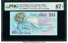 Cook Islands Government of the Cook Islands 20 Dollars ND (1987) Pick 5a PMG Superb Gem Unc 67 EPQ.   HID09801242017  © 2020 Heritage Auctions | All R...