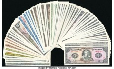 World (Costa Rica, Ecuador) Group Lot of 70 Examples Crisp Uncirculated. Light staining on Costa Rica 20 Colones.  HID09801242017  © 2020 Heritage Auc...
