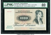 Denmark National Bank 1000 Kroner 1980 Pick 53d PMG Extremely Fine 40.   HID09801242017  © 2020 Heritage Auctions | All Rights Reserve