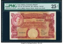 East Africa East African Currency Board 100 Shillings ND (1958-60) Pick 40 PMG Very Fine 25 Net. Stained.  HID09801242017  © 2020 Heritage Auctions | ...