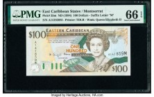 East Caribbean States Central Bank, Montserrat 100 Dollars ND (1994) Pick 35m PMG Gem Uncirculated 66 EPQ.   HID09801242017  © 2020 Heritage Auctions ...