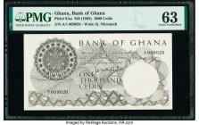 Ghana Bank of Ghana 1000 Cedis ND (1965) Pick 9Aa PMG Choice Uncirculated 63.   HID09801242017  © 2020 Heritage Auctions | All Rights Reserve