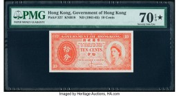 Hong Kong Government of Hong Kong 10 Cents ND (1961-65) Pick 327 KNB18 PMG Seventy Gem Unc 70 EPQ S.   HID09801242017  © 2020 Heritage Auctions | All ...