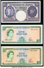 Jamaica Bank of Jamaica; Government of Jamaica 10 Shillings; 1 Pound (2) Three Examples Very Fine.   HID09801242017  © 2020 Heritage Auctions | All Ri...
