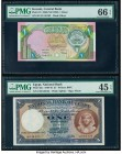 Kuwait Central Bank of Kuwait 1 Dinar 1968 (ND 1992) Pick 19 PMG Gem Uncirculated 66 EPQ; Egypt National Bank of Egypt 1 Pound 22.1.1945 Pick 22c PMG ...