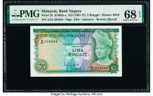 Malaysia Bank Negara 5 Ringgit ND (1967-72) Pick 2b KNB2a-c PMG Superb Gem Unc 68 EPQ.   HID09801242017  © 2020 Heritage Auctions | All Rights Reserve...