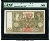 Netherlands Nederlandsche Bank 100 Gulden 18.3.1944 Pick 51c PMG Choice Uncirculated 64 EPQ.   HID09801242017  © 2020 Heritage Auctions | All Rights R...