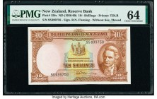 New Zealand Reserve Bank of New Zealand 10 Shillings ND (1956-60) Pick 158c PMG Choice Uncirculated 64.   HID09801242017  © 2020 Heritage Auctions | A...